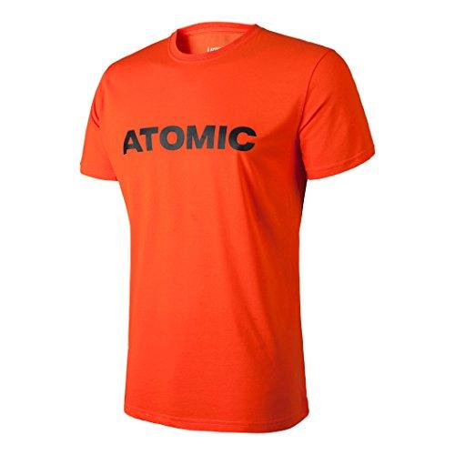 Atomic, Herren T-Shirt mit Siebdruck-Logo, Alps, Baumwolle/Polyester, Größe S, Hellrot/Schwarz, AP5035830 (Herz Red-t-shirt Seele)