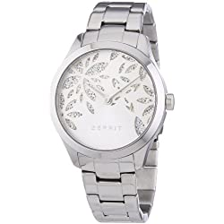 Esprit Lily Dazzle Women's Quartz Watch with Silver Dial Analogue Display and Silver Stainless Steel Bracelet ES107282001
