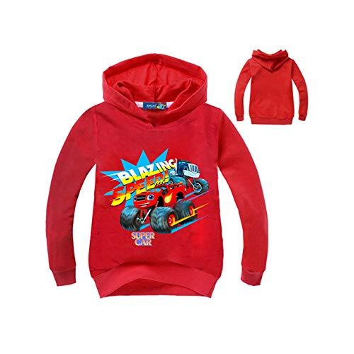 2019 Kids New Children Kids Boy Hoodie Girl Sweater Boys Coat Monster Machine Kids Boys Blazing Speed Cartoon Sweat 3-16years Red 6T -