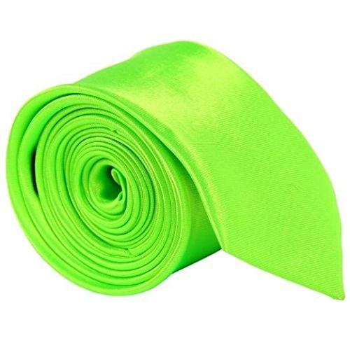 5starwarehouse Herren Krawatte Einheitsgröße Gr. Einheitsgröße, neon green