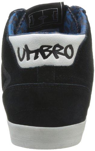 Umbro Terrazzo Hi Camoscio Herren Sneaker Schwarz - Nero (215 Nero / Ecru / Atom Blue)