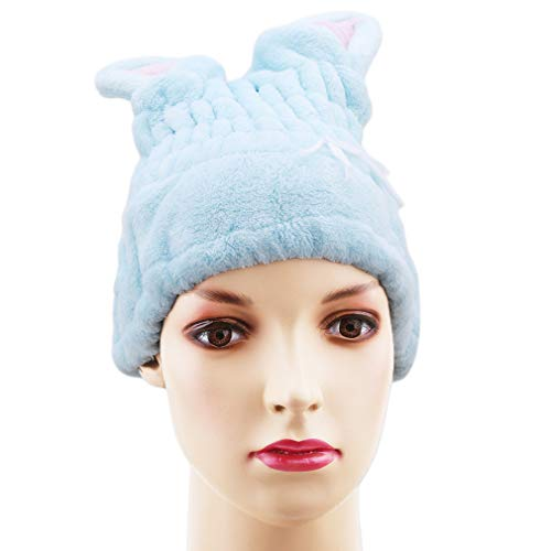 L_shop Cartoon Rabbit Trockenes Haar Hut Ultra Absortbent Dusche Bad Spa Cap Cat...