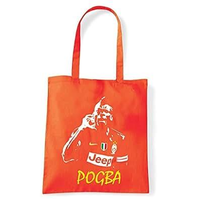 Art T-shirt, Borsa Shoulder Paul Pogba Juventus, Arancio