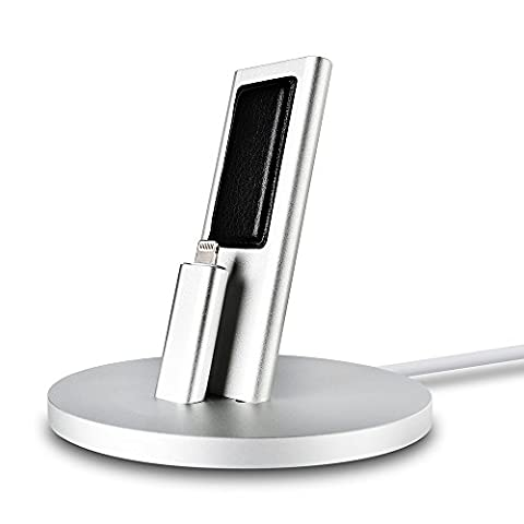 Cell Phone Stand, POWERILLEX ALuxury Aluminum iPhone Charging Dock, Adjustable Charger Stand for iPhone 7, 7 Plus, iPhone 6, 6 Plus, 6S, 6S Plus, etc(No Cable Included)