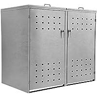 Zelsius - Caja para contenedores de Basura Cuadrada (para 2 contenedores de 120 o 240 L, con 2 Tapas, con Cierre)