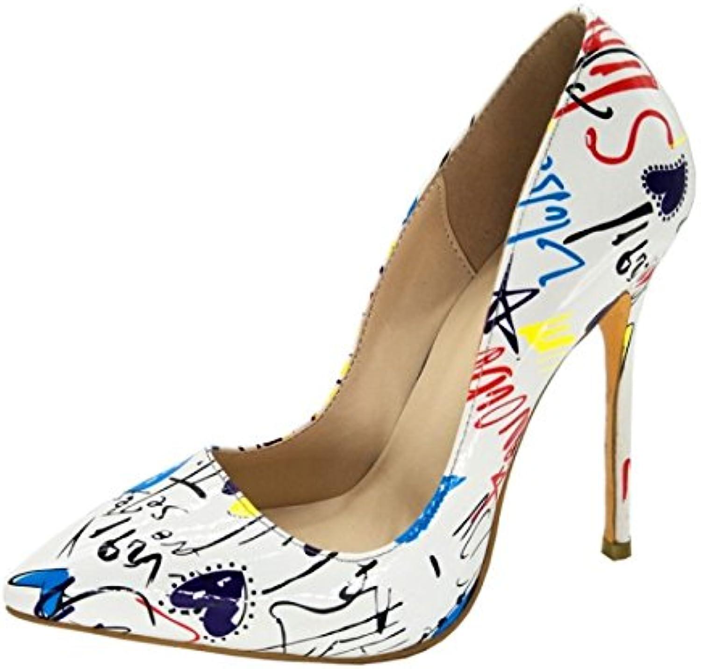 VIVIOO Prom Prom Prom Sandals scarpe,Fashion,Leather Fabric,11 Cm High Heel scarpe,Pointed Toe Pumps. Dimensione 34-45,bianca,6 | Forte calore e resistenza all'abrasione  | Scolaro/Signora Scarpa  a0c914