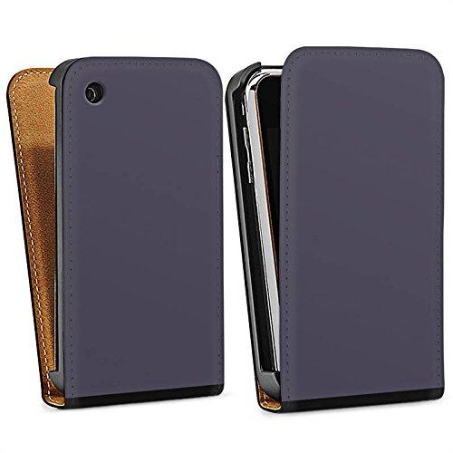 Apple iPhone 5s Housse Étui Protection Coque Gris sombre Gris Gris Sac Downflip noir