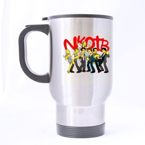 Cartoon Band New Kids On The Block Customized Personalized Silver Travel Mug Sports Bottle Coffee Mugs Office Home Cup 14 OZ Two Sides Printed by Custom Mugs