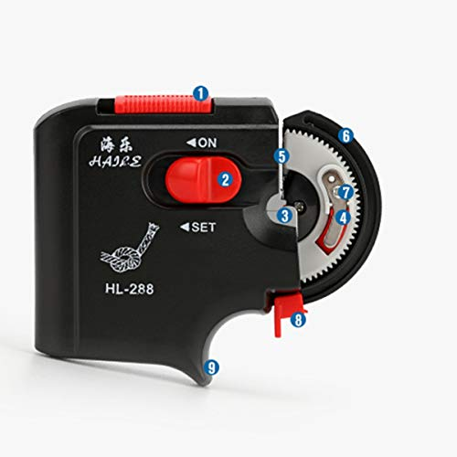 Gugutogo Vollautomatische elektrische Angelhaken Angeln Maschine Ebene schnell Zubehör Binden Binden Haken Angelschnur Gerät (schwarz Pfirsich)
