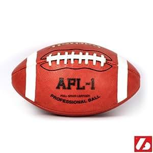 AFL-1 Ballon de football américain match pro, junior, marron, cuir pleine fleur