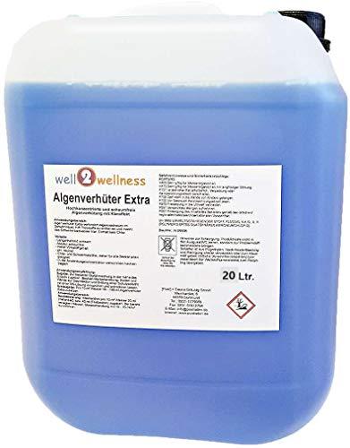 well2wellness Pool Algenverhüter + Algenvernichter Extra 'BLUE' 20 l - hochkonzentriert + schaumfrei