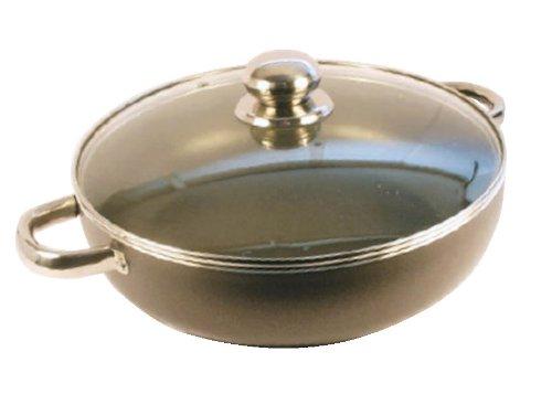Hochwertige Induktions-Stielkasserolle, Deep N / S &Backofen Induktion Bratpfanne mit Glasdeckel (Deep Dutch Oven)
