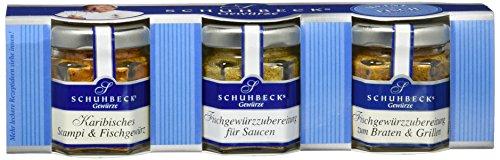 """Schuhbeck 3er Set """"Meine Fischküche"""", 1er Pack (1 x 65 g)"""