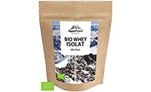 ALPENPOWER | BIO WHEY ISOLAT Neutral | Ohne Zusatzstoffe | 100% natürliche Zutaten | Bio-Milch aus Bayern und Österreich | Ökologisch & nachhaltig | Hochwertiges Eiweiß | 1000 g
