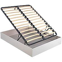 Canapé Abatible Madera láminas Oxfort - Blanco, 80x190cm