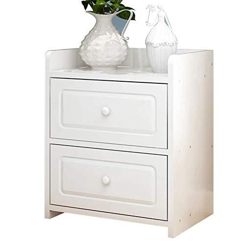 CZZ Kleiner Schrank, Nachttisch, Einfach Mit Schublade Aufbewahrungsbox Multifunktionsspeicher Haushalt Schlafzimmer Nachttisch 2 Stile,A,Tabelle -