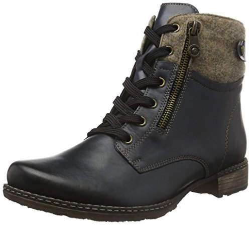 Remonte Damen D4379 Combat Boots, Blau (lake/wood/pazifik/14), 43 (Lake Schuhe)