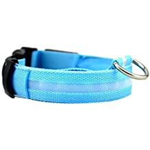 MIOIM® LED Perro Collar Mascota Parpadeante Luminoso Regulable Seguridad Collar Intermitente Iluminación Correa del Light-up