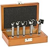 kwb Forstnerbohrer-Satz – Bohrer-Set zur Holzbearbeitung, 5-teilig (geeignet für alle Dreh- und Schlag-Bohrmaschinen)