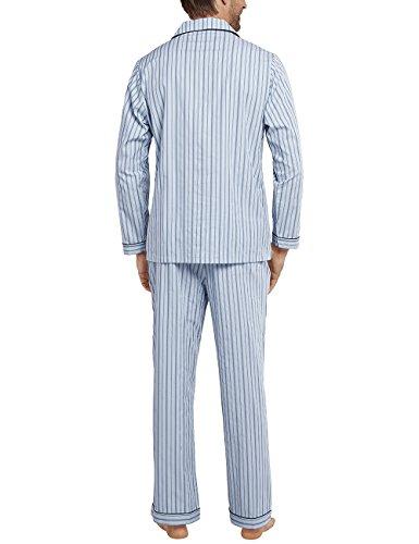 Schiesser Herren Zweiteiliger Schlafanzug Pyjama Lang Blau (hellblau 805)