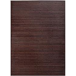 LOLAhome Alfombra de salón o Comedor Industrial marrón de bambú de 180 x 250 cm Factory, 180x250