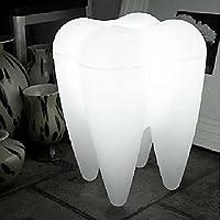 LED Lámpara de pie, 1 luz, moderna forma de los dientes de plástico blanco de 220-240V