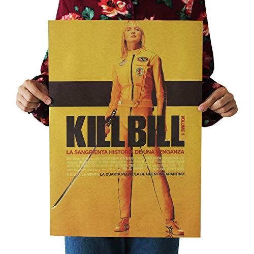 Kill Bill Vintage Retro Cartel papel Kraft Interior