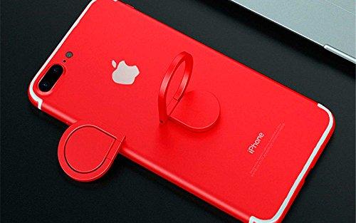 360° Drehbar Metall Finger Ring Ständer Halter Stick Mount Halterung für Handy GPS iPhone Samsung MP3PDA MP4PSP, Rot Ipod-dashboard Mount