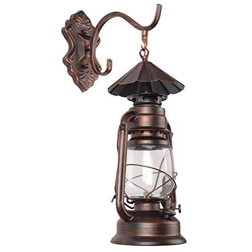 OOFAY Rustique Dietz Lantern Wall Light, Applique Murale Kérosène Métal Verre Pour Chambre Coucher, Salle À Manger, Café Bar, Décor Couloir,Brown