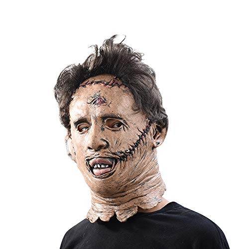 Leatherface Realistische Kostüm - LIJING Halloween Maske Mask Texas Kettensäge Leatherface Masken Scary Movie Cosplay Requisiten Hohe Qualität Spielzeug Party Latex Maske
