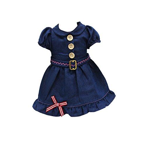 Dunkelblaue Jeans Kleid Für 18-Zoll-amerikanische Mädchenpuppen