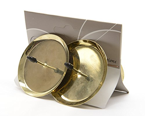 4 Stück Adventskerzenhalter 6cm gold Kerzenhalter Advent Kerzen Adventskranz