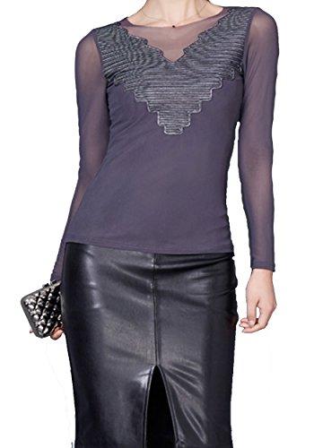 helan-mujeres-v-cuello-de-la-blusa-basica-suave-camisa-de-la-tapa-eu-38-40-gris