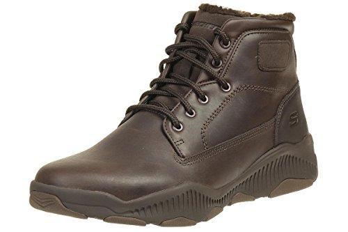 Skechers Ridge Fowler Herren Stiefel Outdoor Schuhe Leder Choc, Schuhgröße:EUR 45 -