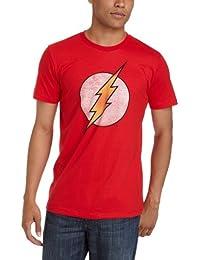 DC Comics The Flash-Lightning Bolt Faded rot T-Shirt Logo tee