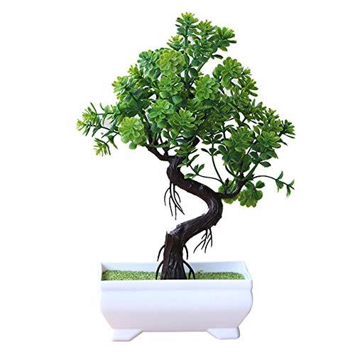 BIGBOBA Simulation Pflanze Topf Pflanzen, Zuhause Dekoration Blume Ornamente, Mini Balkon Wohnen Raum Pflanzen, Kunststoff Blume, Blume Geschenk, 16 * 24cm