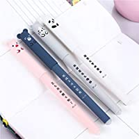 Altsommer Newest 4 Pack Cute Kawaii Cartoon Cat Gel Ink Pen Ballpoint Blue Ink Student Pens School Office Supply Student Stationery Automatic Pencil 0.35mm