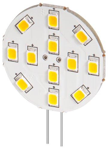 5er Set LED Einbaustrahler 2 W Sockel G4, ersetzt 20 W, 170 Lumen warm-weißes Licht mit 2800 K