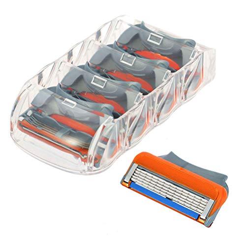 4 piezas de 5 cuchillas Cuchillas de Afeitar Maquinilla de Afeitar Cabezas de Reemplazo para Gillette
