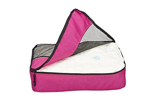 SACSTAR Travel Packing Cube Bag Set Bekleidung Organizer Small Medium Large für Carry-on Gepäck Zubehör 3 Stück (Rosy)