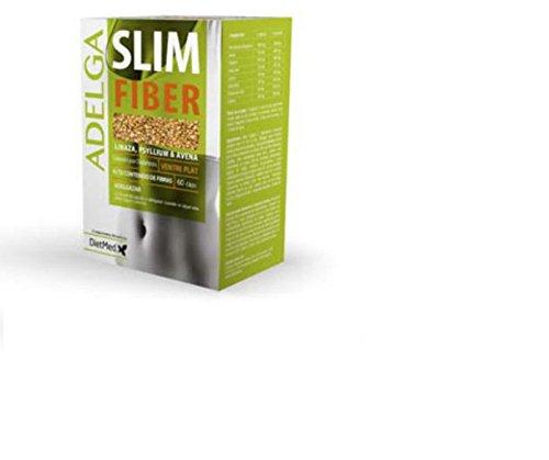 Adelga Slim Fiber DietMed 60 capsulas quemagrasas efecto vientre plano, aplana el vientre, ADELGAZAR efeccto DETOX depurante diuretico elima exceso de liquidos, con aloe vera.