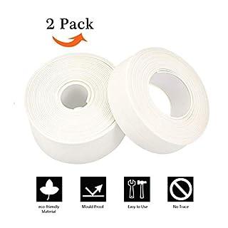 Bath & Kitchen Caulk Tape Sealant Strip,Self Adhesive Waterproof/Mildewproof/Cockroach Prevention Tape。