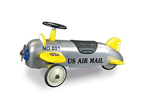 Retro Roller 0706120 - Laufauto Aeroplane, silber