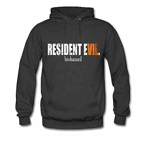 Resident Evil Biohazard Pattern Mens Hoodie M