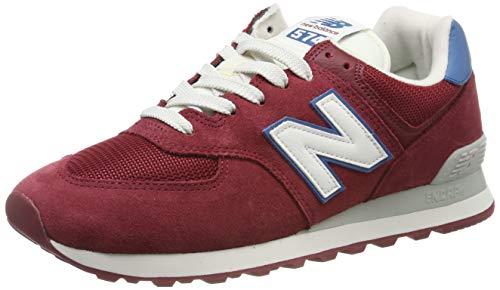 New Balance Herren 574v2 Sneaker, Rot NB Scarlet, 42.5 EU (Herren Schuhe New Balance Rot)