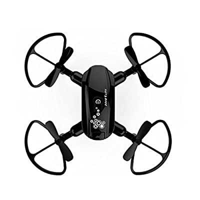 VNEIRW D10WH Mini Foldable Drone With Wifi FPV 0.3MP HD 480P Camera, 2.4Ghz - 6-Axis Gyro - Drone Battery 3.7V 250mAh - 3D Roll Over - 50 Meters Control Distance - HIFI Real - Time Transmission and Phone Contro l - 4 CH - /One Key Retrun - Headless Mode,