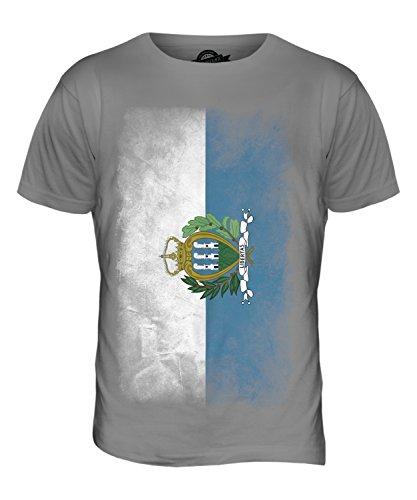 CandyMix São Tomé Und Príncipe Verblichen Flagge Herren T Shirt Hellgrau