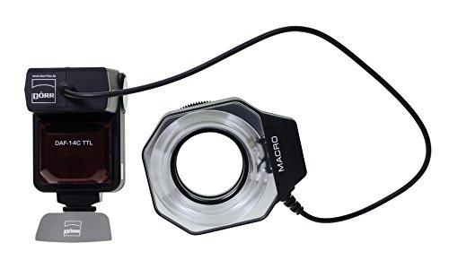 Dörr DAF-14 Ringflash für Canon mit E-TTL II Blitzautomatik