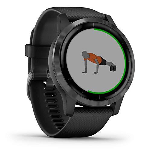 Garmin vívoactive 4 - wasserdichte GPS-Fitness-Smartwatch mit Trainingsplänen & animierten Übungen. Herzfrequenzmessung, 20 Sport-Apps, 8 Tage Akkulaufzeit, kontaktloses Bezahlen, Musikplayer