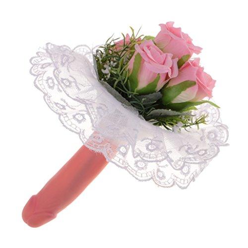 MagiDeal Künstliche Rose Blumen mit Blätter Dekoriere Kunstblumen Seidenblumen Willy Form Blumenstrauß Für Junggesellinnenabschied Party Dekor
